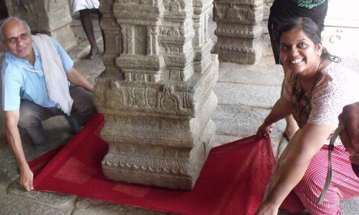 Secret Behind Hanging Pillar Of Veerabhadra Temple Is At Lepakshi Anantapur-TeluguStop.com