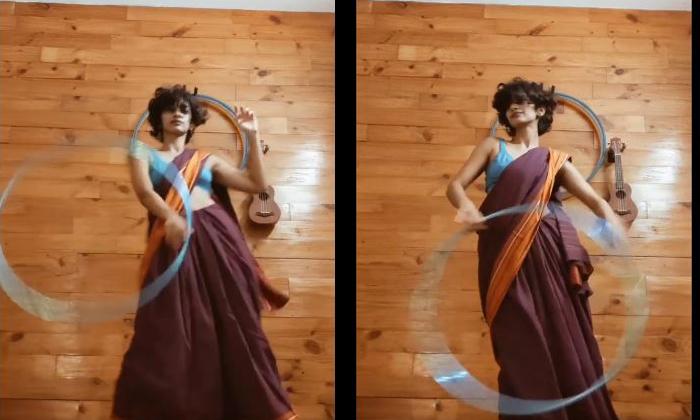 Girl Dance Supereb In Saree-TeluguStop.com