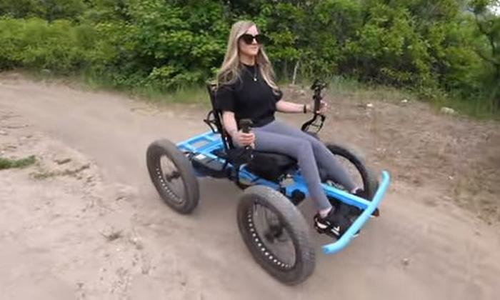 Husband Changes Wheelchair To Bike Law For Wife Who Cant Walk-నడవలేని భార్య కోసం వీల్ చైర్ నే బైక్ లా మార్చిన భర్త…-General-Telugu-Telugu Tollywood Photo Image-TeluguStop.com