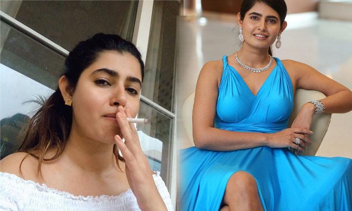 Telugu Actress Ashima Narwal Cigar Smoking Video Viral In Social Media-TeluguStop.com