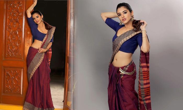 Telugu Actress Malvika Sharma Hot Look Images At Saree-telugu Actress Hot Photos Telugu Actress Malvika Sharma Hot Look High Resolution Photo