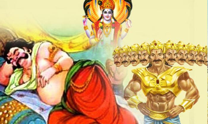 Telugu Kumbhakarna Sleep, Saraswathi Devi, బ్రహ్మ దేవుడు, వాక్కు తారుమారు-Telugu Bhakthi