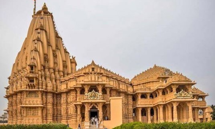 Buddhist Caves Unearthed Under The Somnath Temple-TeluguStop.com