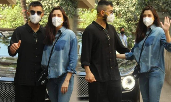 TeluguStop.com - Pic Talk: Virat And Anushka Spotted Out First Time Post Baby-Latest News English-Telugu Tollywood Photo Image