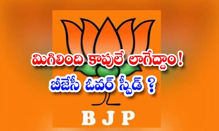 Bjp Try To Joinings On Kapu Community Leders-TeluguStop.com