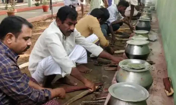 Mens Festival Pullampeta Village Ritual-TeluguStop.com