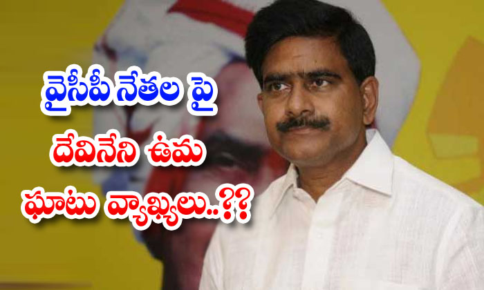 Tdp Leader Devineni Uma Comments On Ycp Leaders-TeluguStop.com