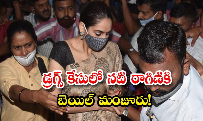 TeluguStop.com - Actress Ragini Granted Bail In Drugs Case