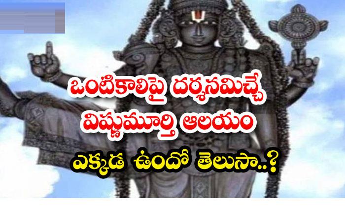 Where Lord Vishnu Is Seen With One Leg-TeluguStop.com