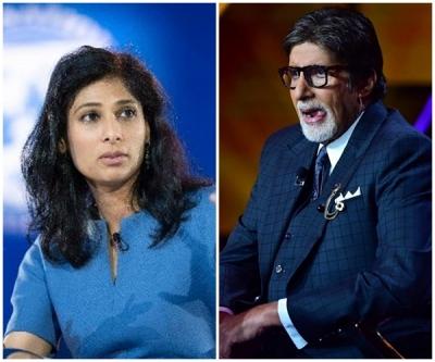 Big B Calls Imf Chief Economst Gita Gopinath A 'beautiful Face', She Responds-TeluguStop.com
