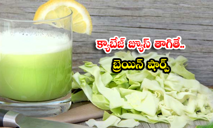 Cabbage Juice Helps To Increase Brain Health-TeluguStop.com