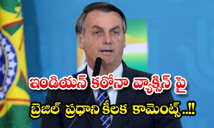 TeluguStop.com - Brazilian Pm Makes Key Comments On Indian Corona Vaccine