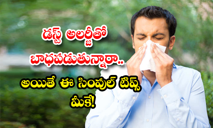 Home Remedies To Get Rid Of Dust Allergy-TeluguStop.com