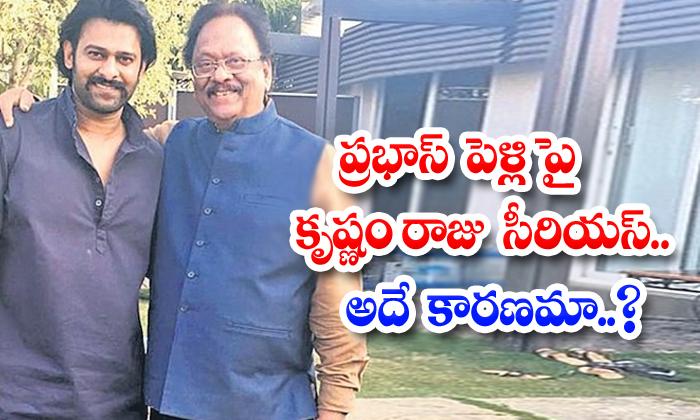 TeluguStop.com - Krishnam Raju Serious About Prabhas Marriage Questions