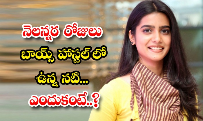 TeluguStop.com - Actress Gouripirya Reddy Comments Stays In Boys Hostel About Mail Movie