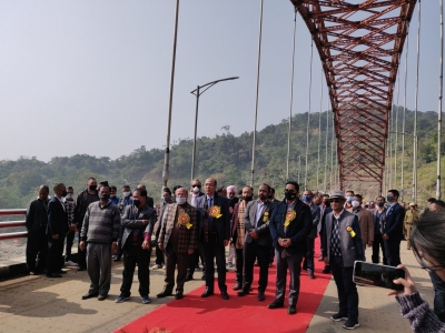 TeluguStop.com - Meghalaya CM Inaugurates India's Longest Steel Arch Bridge-Latest News English-Telugu Tollywood Photo Image