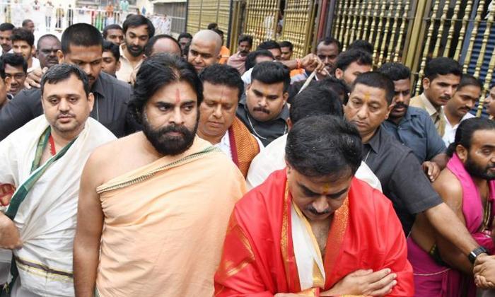 Telugu Jena Sena Party, Pawan Kalyan, Power Star, Tirumala Visit, Vakeel Sab-Movie