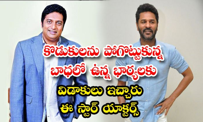Prakash Raj And Prabhudeva Divorce Similarities-TeluguStop.com