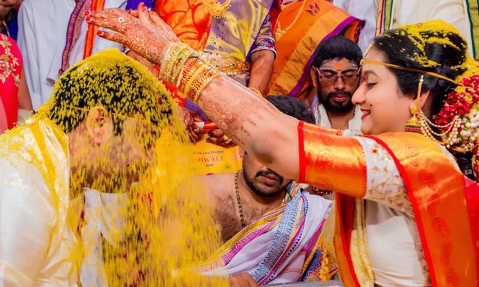 Talambralu Marriage Hindu Marriage Rituals Hindu Marriage Tradition-TeluguStop.com