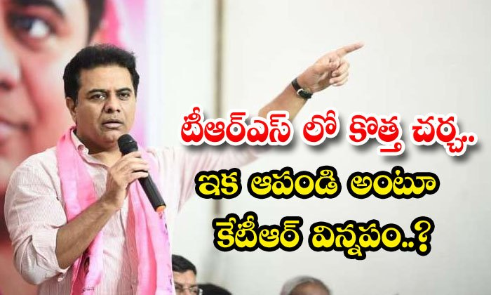 TeluguStop.com - Telangana Minister Ktr Request On Who Should Not Talk About My Political Future