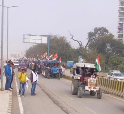 TeluguStop.com - Tractors Line Up In Delhi Ahead Of #farmersparade On R-day