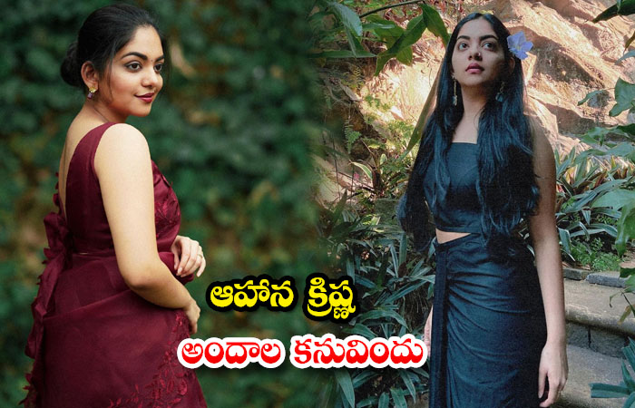 Pictures of Actress Ahaana Krishna shake up the show social media-ఆహాన క్రిష్ణ అందాల కనువిందు
