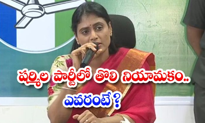 TeluguStop.com - Sharmilas First Appointment In The Party