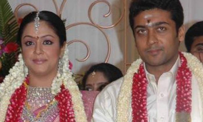 Hero Surya And Jyothika Interesting Love Story-TeluguStop.com