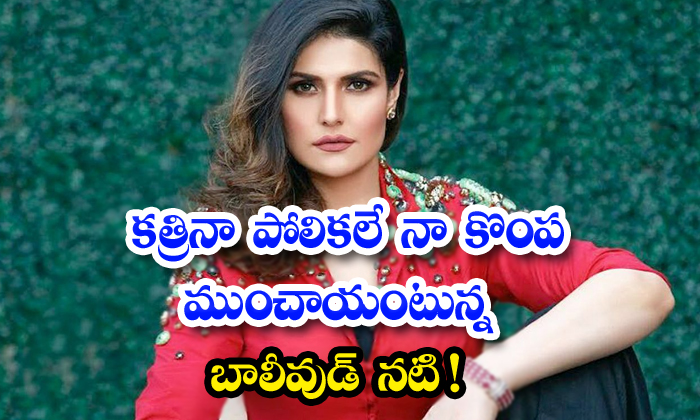 Bollywood Actress Zareen Khan On How Comparisons With Katrina Kaif Affected On Her-TeluguStop.com
