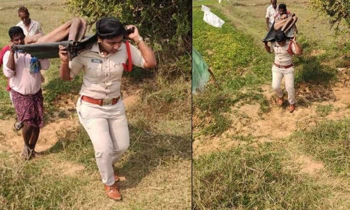 Srikakulam Woman Si Carrying Dead Body-TeluguStop.com