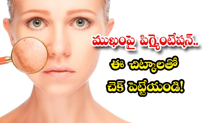 Home Remedies For Skin Pigmentation-TeluguStop.com
