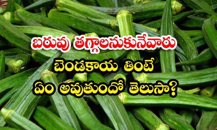TeluguStop.com - Ladies Finger Helps To Reduce Overweight
