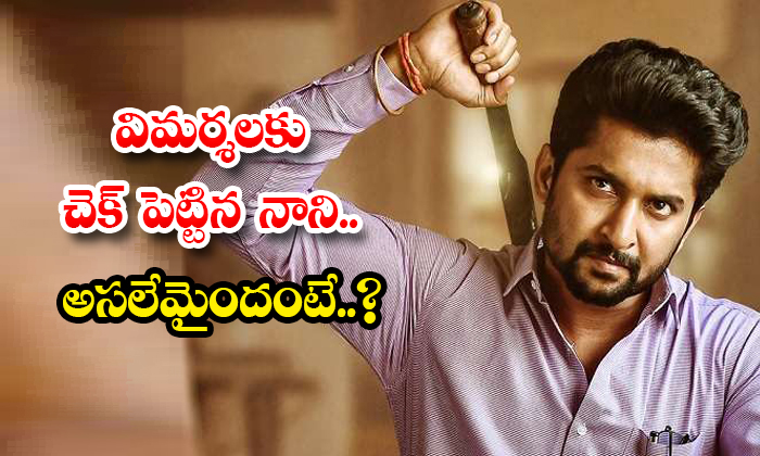 Nani Counter To Critics With Shyam Singaray Movie-TeluguStop.com