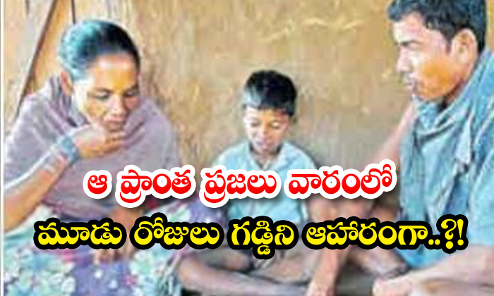 TeluguStop.com - The People Of The Area Feed On Grass Three Days A Week