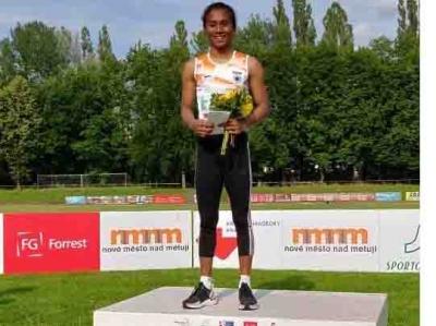 3rd Gp Athletics: Hima Runs Alone, Wins 100m; Double For Poovamma-TeluguStop.com