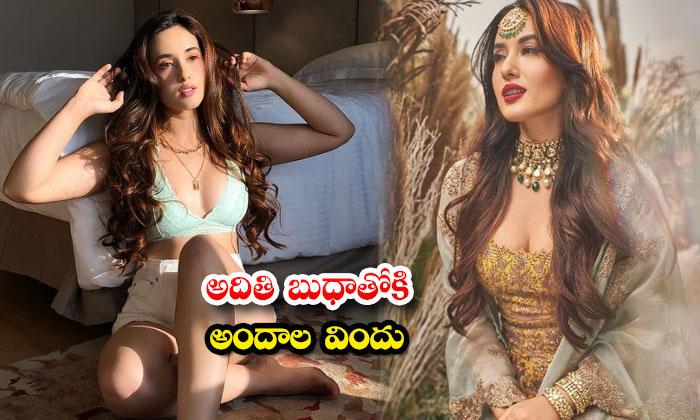 Mumbai Hot beauty aditi budhathoki sizzling images-అదితి బుధాతోకి అందాల విందు