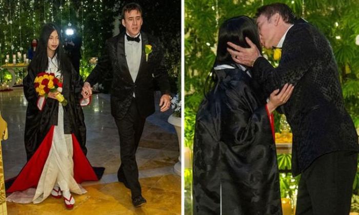 Nicolas Cage Ties The Knot For The Fifth Time To Riko Shibata-ఐదో పెళ్లి చేసుకున్న ఘోస్ట్ రైడర్ సినిమా హీరో-Latest News - Telugu-Telugu Tollywood Photo Image-TeluguStop.com