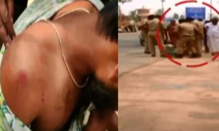 Police Brutality Against Driver-మానవత్వం మరిచిన కానిస్టేబుల్స్.. కొంపలు ముంచుతున్న అత్యుత్సాహం.. -Breaking/Featured News Slide-Telugu Tollywood Photo Image-TeluguStop.com