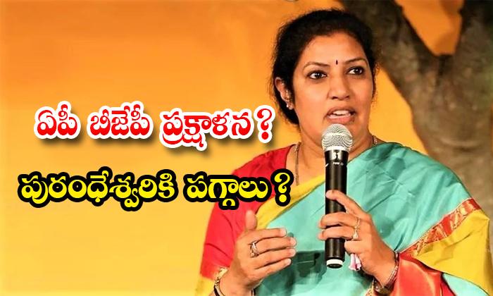 The Bjp Wants To Hand Over The Responsibilities To Purandeswari As The Ap Bjp President-TeluguStop.com