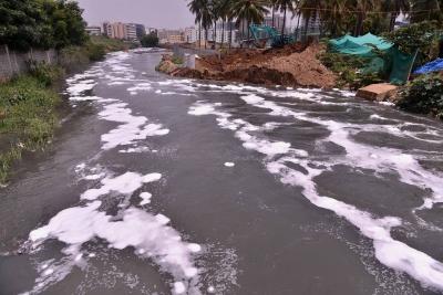 Bengaluru's Bellandur Lake Catches Fire Again-TeluguStop.com