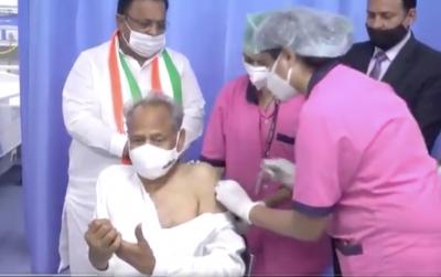 CM Gehlot & Former CM Vasundhara Get Vaccinated In Rajasthan-Health Tips English-Telugu Tollywood Photo Image-TeluguStop.com