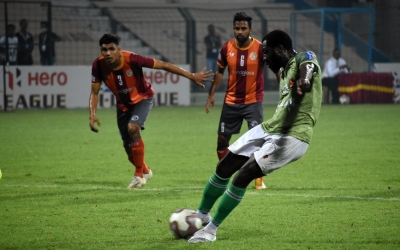 I-league: Antwi's Penalty Takes Kerala To Second Place-TeluguStop.com
