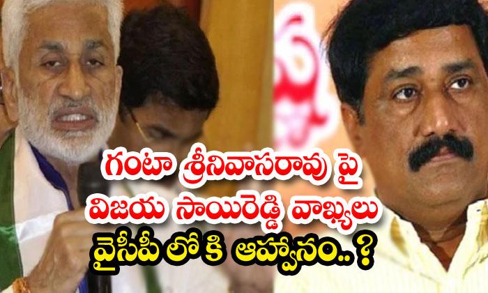 Vijayasaireddy Comments On Ganta Srinivasa-TeluguStop.com