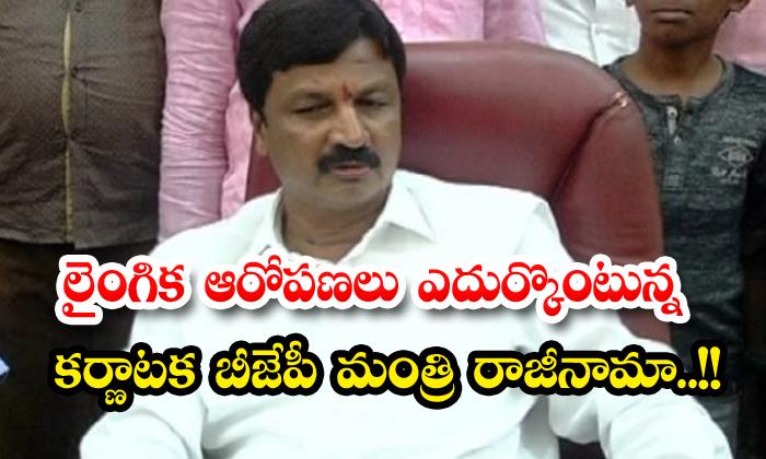 Karnataka Bjp Minister Resigns Over Sexual Harassment Allegations-TeluguStop.com