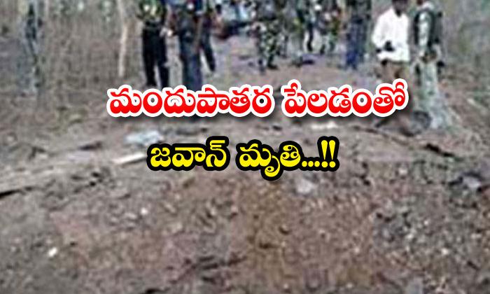 Jawan Killed In Landmine Blast-TeluguStop.com