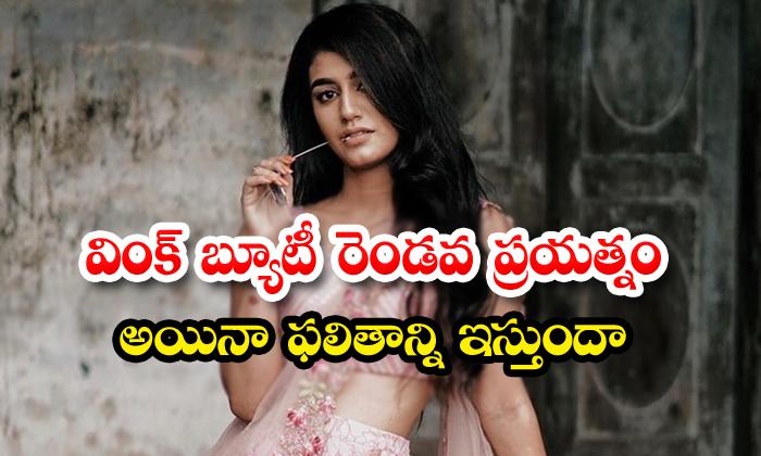 Priya Prakash Wariar New Movie With Teja Sajja Ishq-TeluguStop.com
