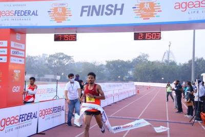 New Delhi Marathon: Bugatha, Sudha Win, Miss Olympic Qualification-TeluguStop.com