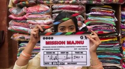 Rashmika Mandanna Starts 'mission Majnu' In Lucknow-TeluguStop.com