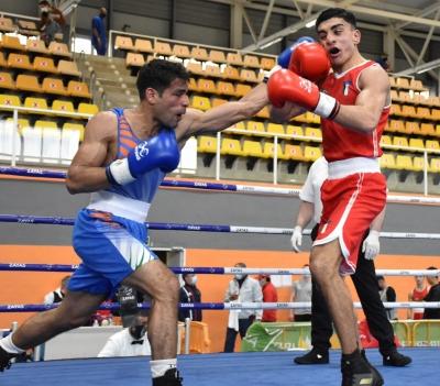 Six Indian Boxers Enter Men's Semi-finals At Boxam International-TeluguStop.com