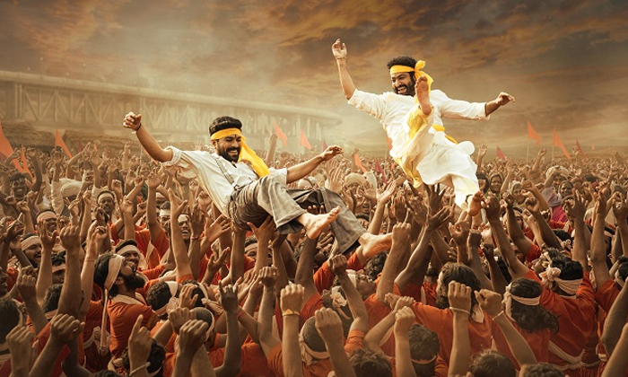 Tarak And Charan Fly High In The New Poster Of RRR'-Latest News English-Telugu Tollywood Photo Image-TeluguStop.com